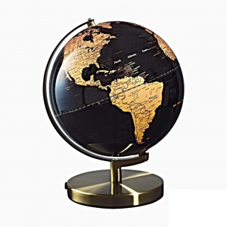 O1150 ILLUMINATED GLOBE COPPER diam 30 cm