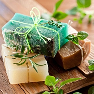 CANVAS HERBS SOAP 50x50
